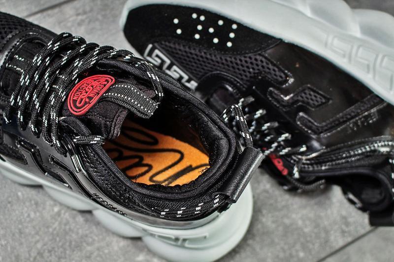 Кроссовки в стиле versace chain reaction. - Фото 8