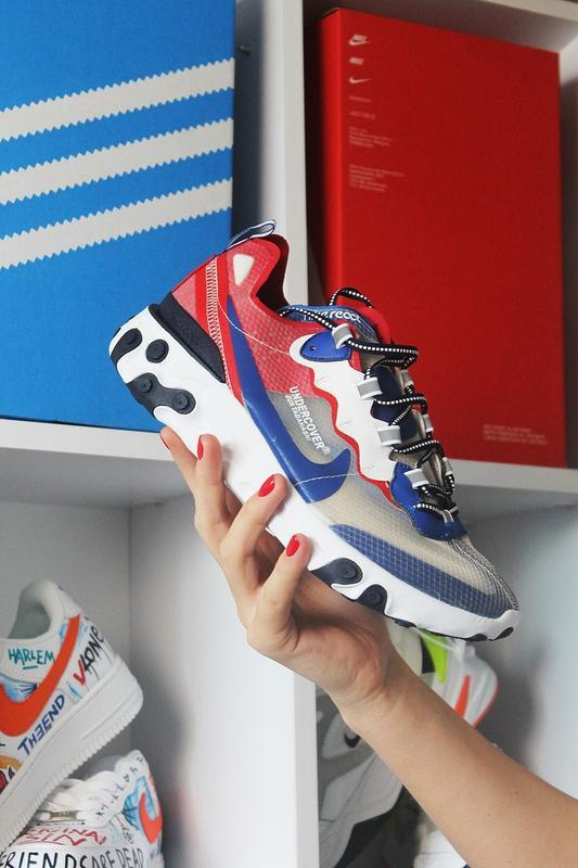Nike react element 87 gray blue red. - Фото 2