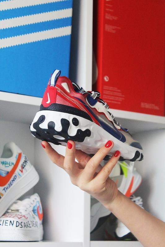Nike react element 87 gray blue red. - Фото 5