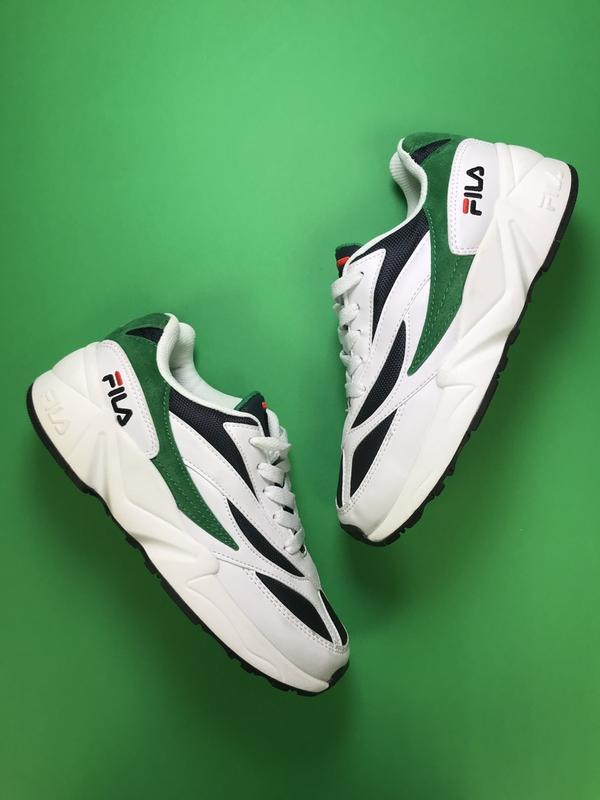 Кроссовки:fila venom white green.