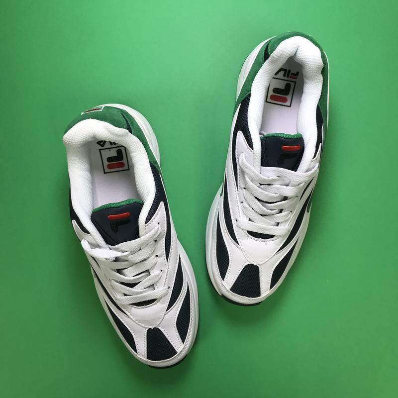 Кроссовки:fila venom white green. - Фото 2