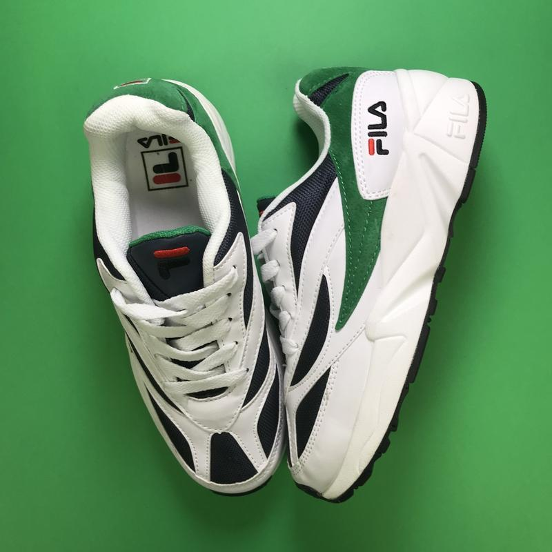 Кроссовки:fila venom white green. - Фото 3