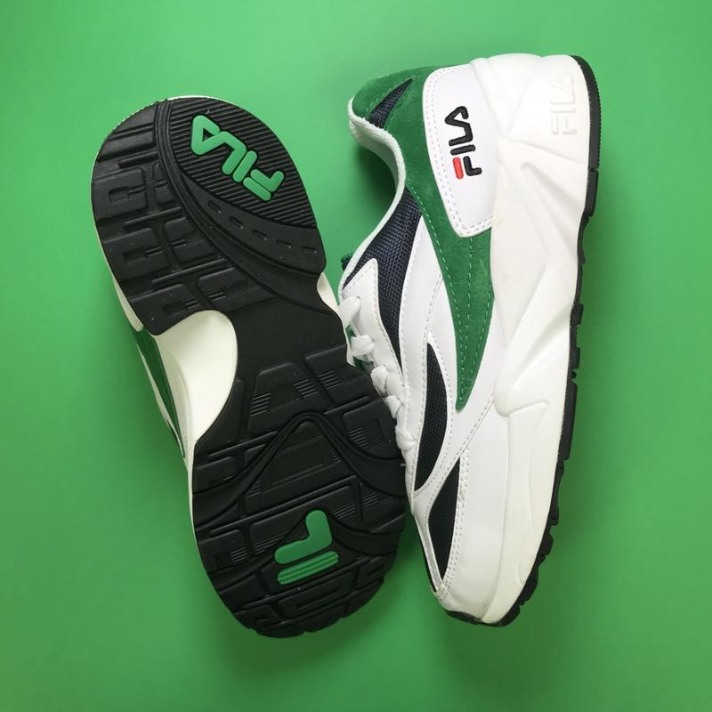 Кроссовки:fila venom white green. - Фото 4