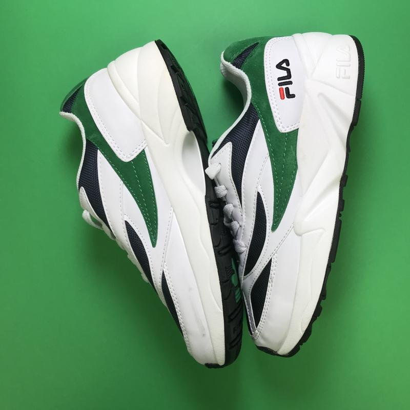 Кроссовки:fila venom white green. - Фото 5