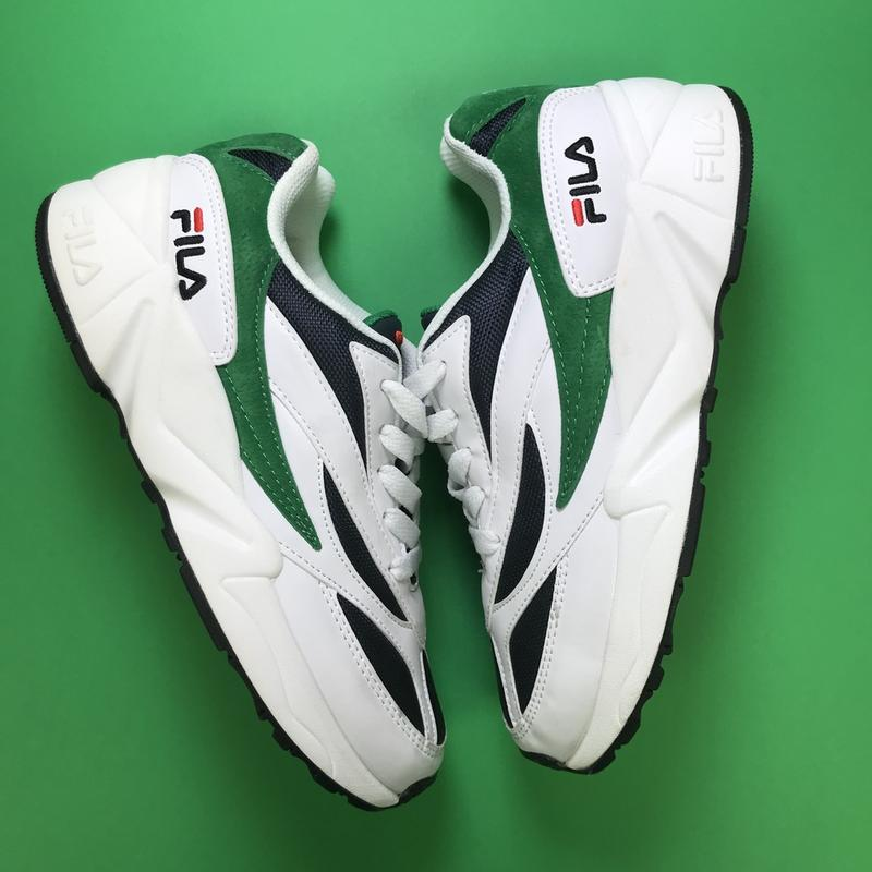 Кроссовки:fila venom white green. - Фото 6
