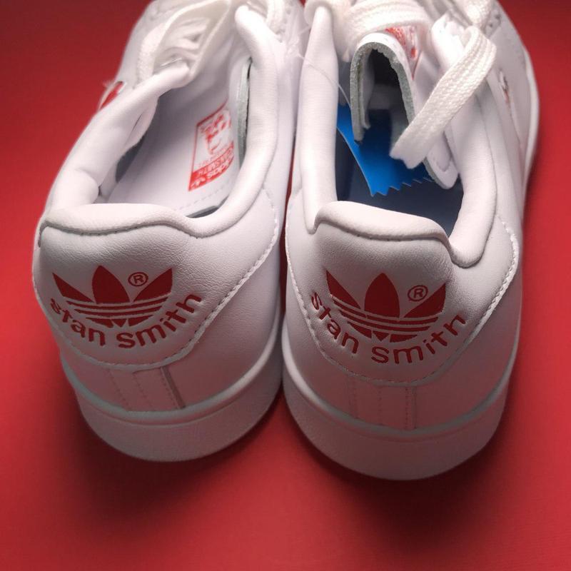 Кроссовки: adidas stan smith white red heart - Фото 2