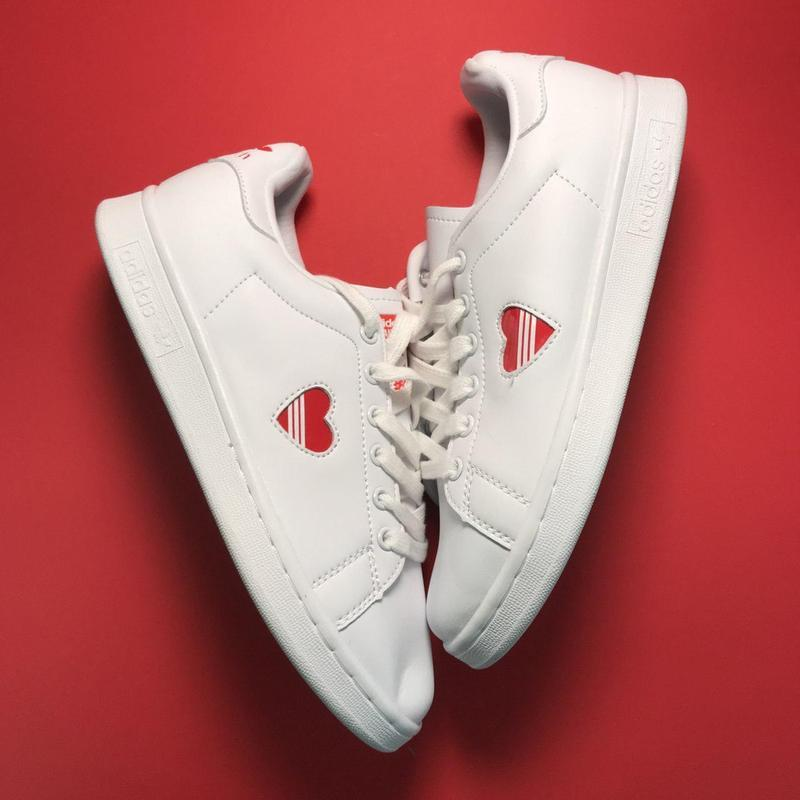 Кроссовки: adidas stan smith white red heart - Фото 5