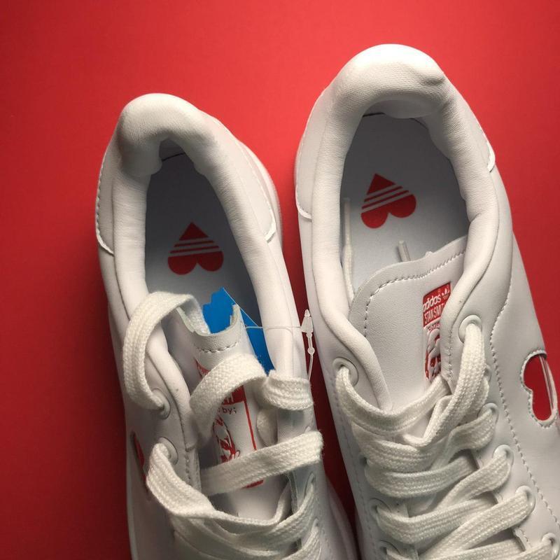 Кроссовки: adidas stan smith white red heart - Фото 6