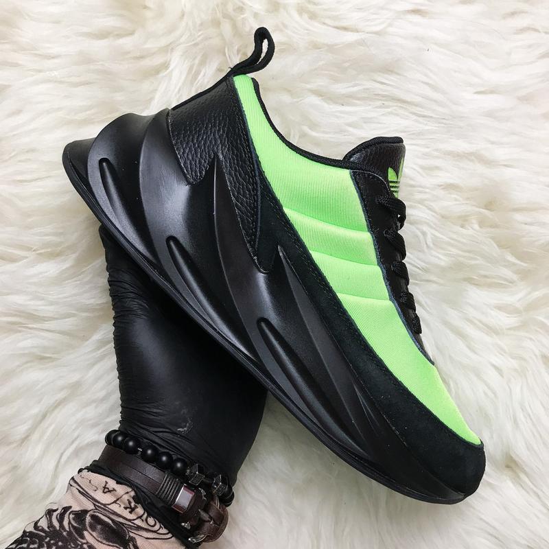 Кроссовки: adidas sharks green black.