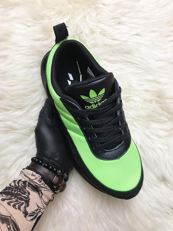 Кроссовки: adidas sharks green black. - Фото 3