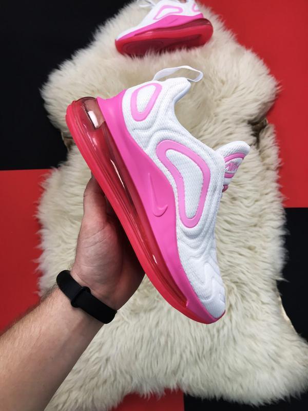 Nike air max 720 pink white. - Фото 5