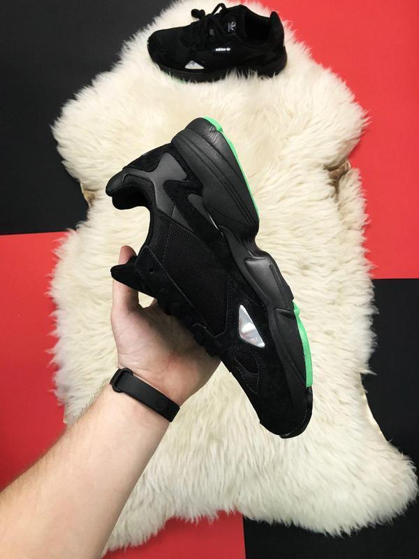 Adidas falcon black fure. - Фото 2