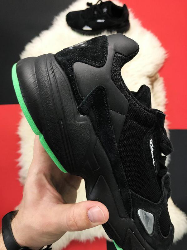 Adidas falcon black fure. - Фото 3