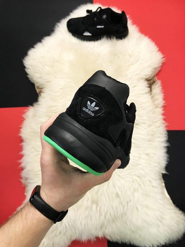 Adidas falcon black fure. - Фото 4