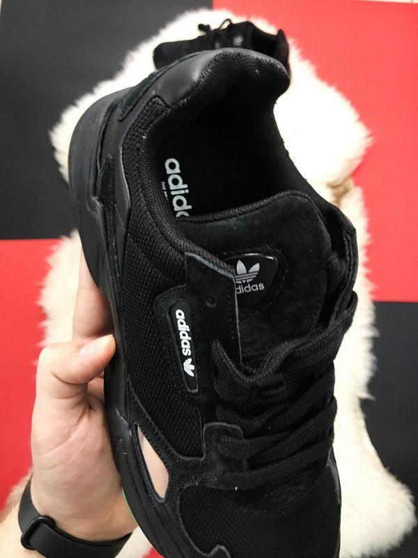 Adidas falcon black fure. - Фото 7