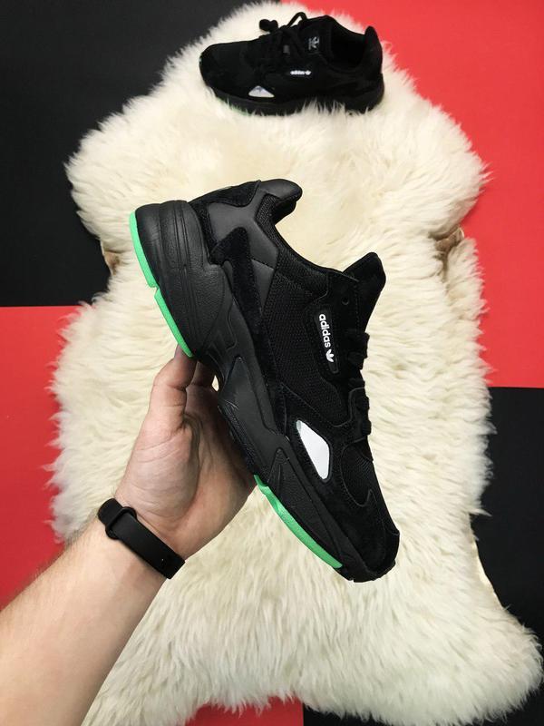 Adidas falcon black fure. - Фото 10