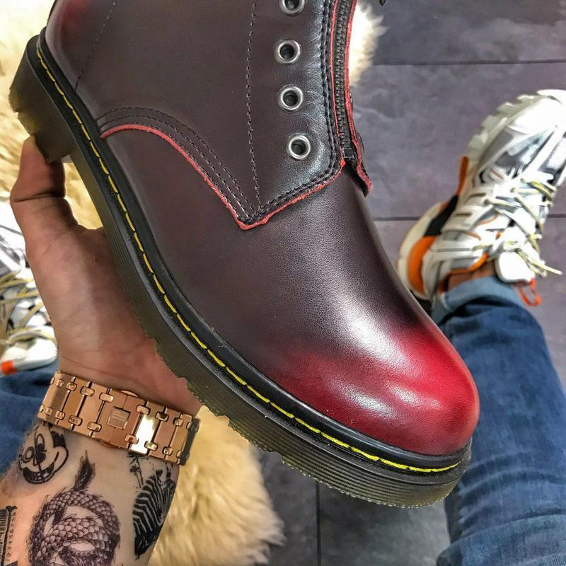 Dr martens gusset red. - Фото 3