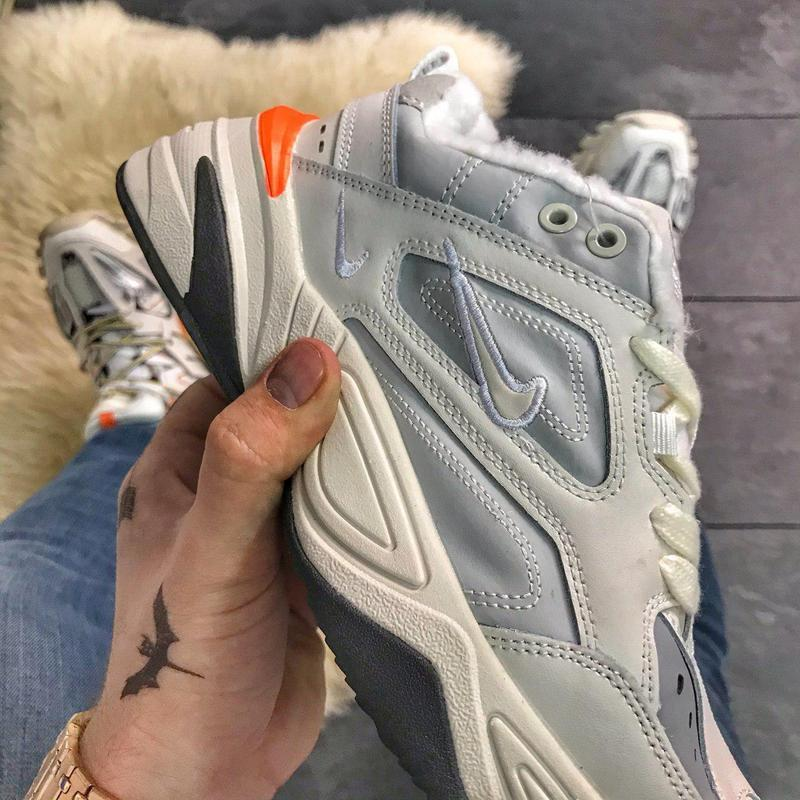 Nike m2k tekno gray orange (мех). - Фото 6