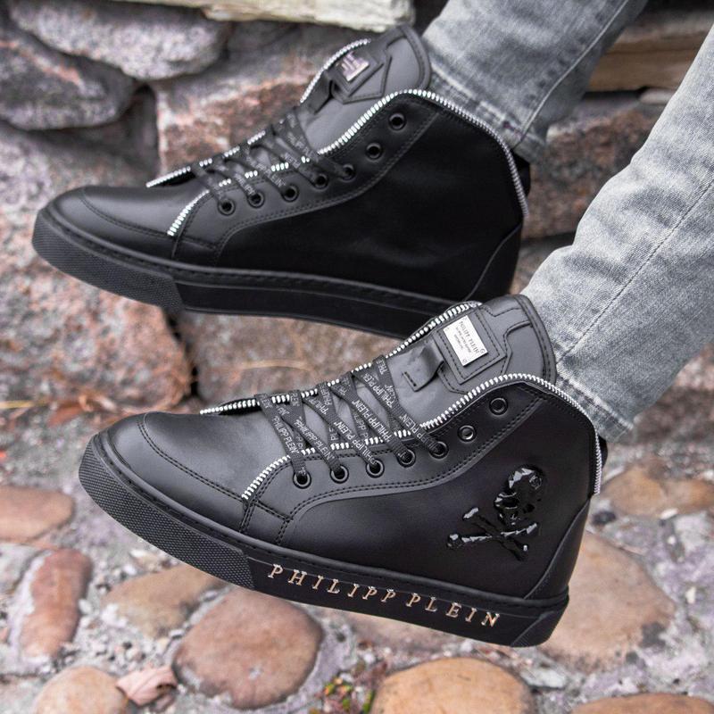 Мужские ботинки :philipp plein black (зима) - Фото 5