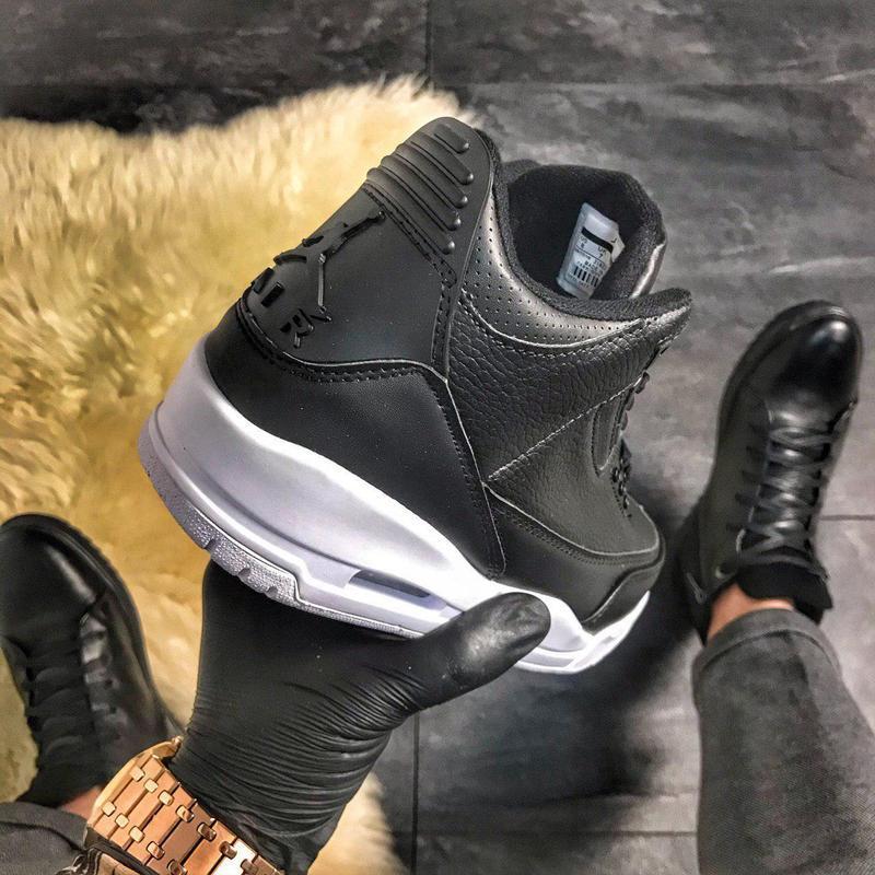 Nike air jordan 4 retro black. - Фото 4