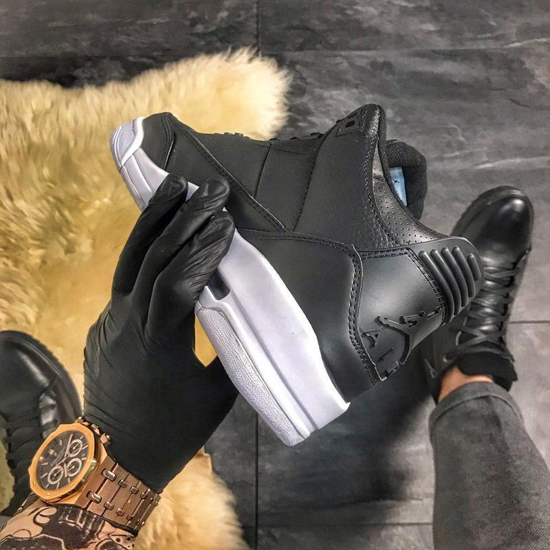 Nike air jordan 4 retro black. - Фото 7