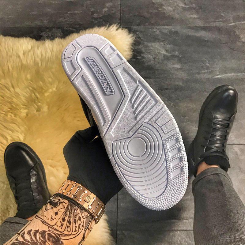 Nike air jordan 4 retro black. - Фото 8
