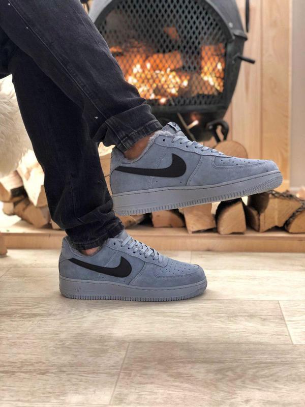 Nike air force grey fur (зима)