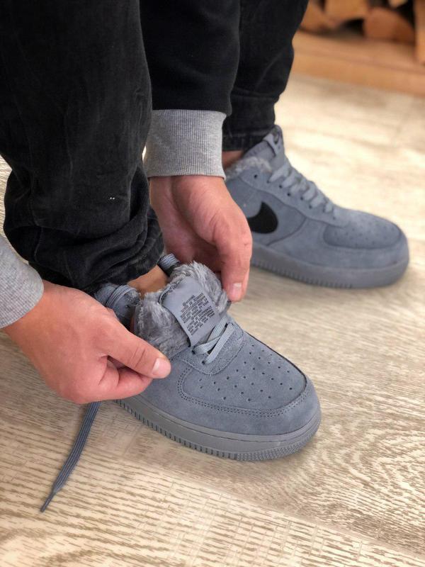 Nike air force grey fur (зима) - Фото 2