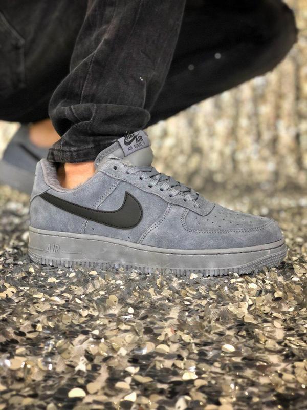 Nike air force grey fur (зима) - Фото 4