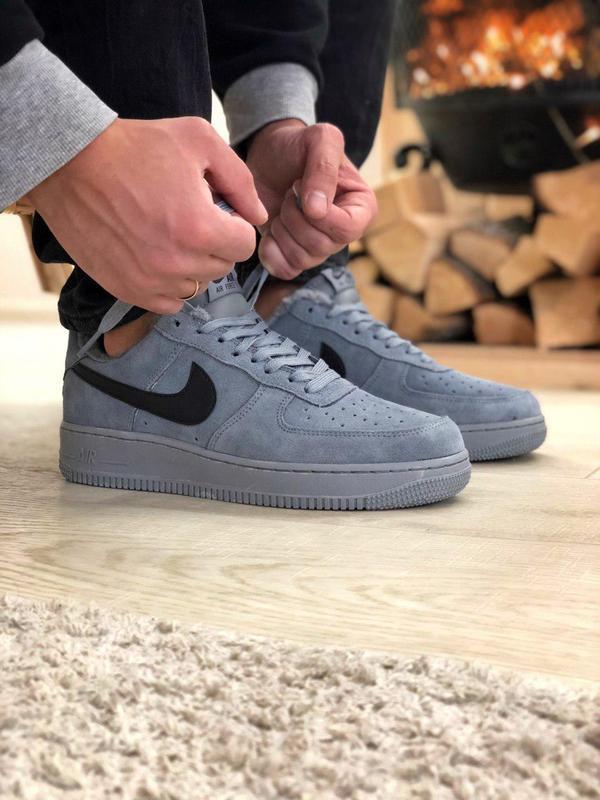 Nike air force grey fur (зима) - Фото 5