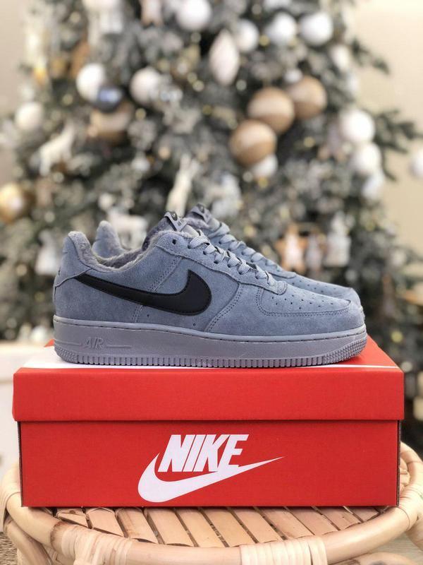 Nike air force grey fur (зима) - Фото 6