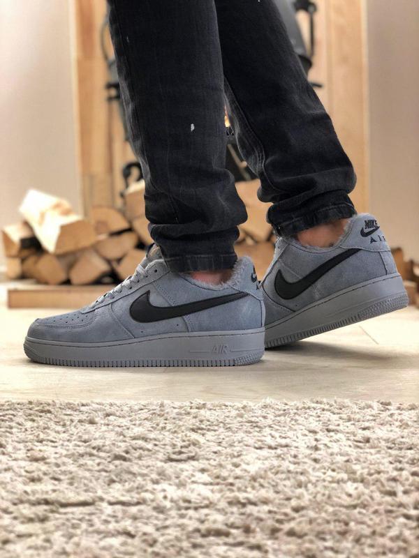 Nike air force grey fur (зима) - Фото 8