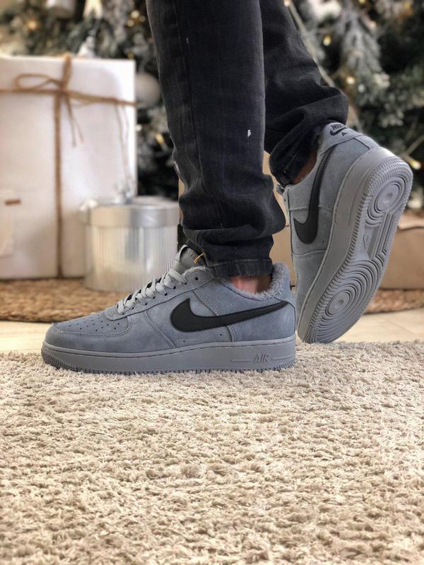Nike air force grey fur (зима) - Фото 9