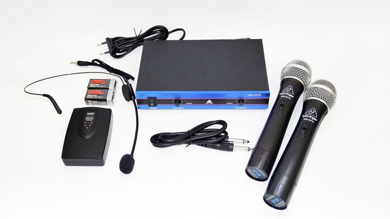 Радиосистема Behringer WM-501R база 2 радиомикрофона - Фото 4