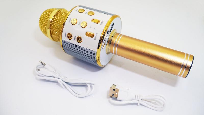 Караоке Wester WS-858 Беспроводной стерео микрофон с динамиком - Фото 2