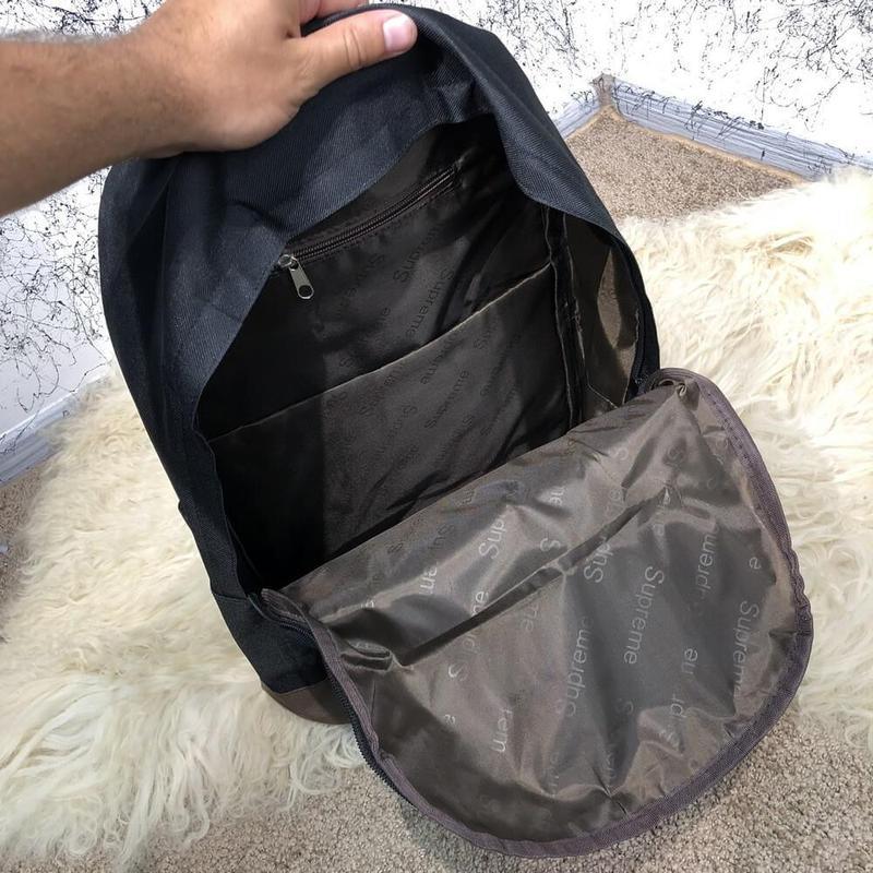 Рюкак  Supreme Backpack Combat Black/Blue - Фото 5