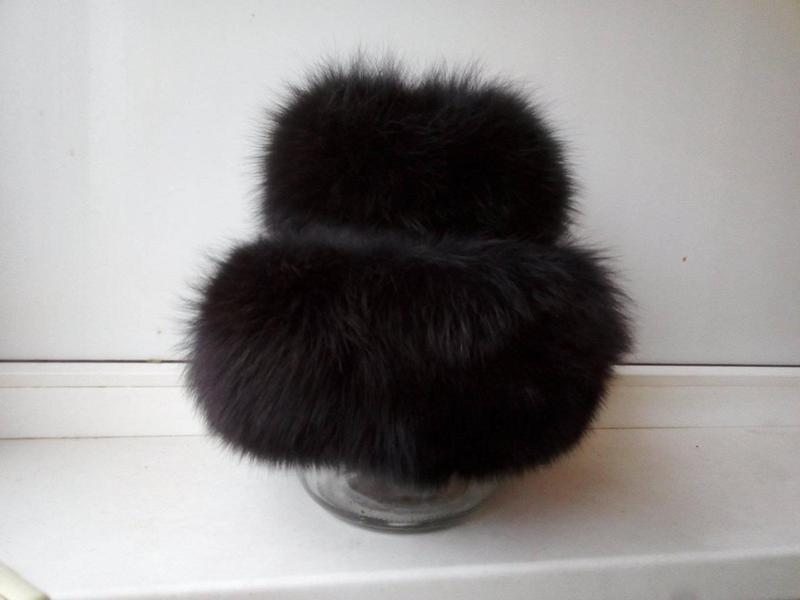 Меховая песцовая шапка-кубанка