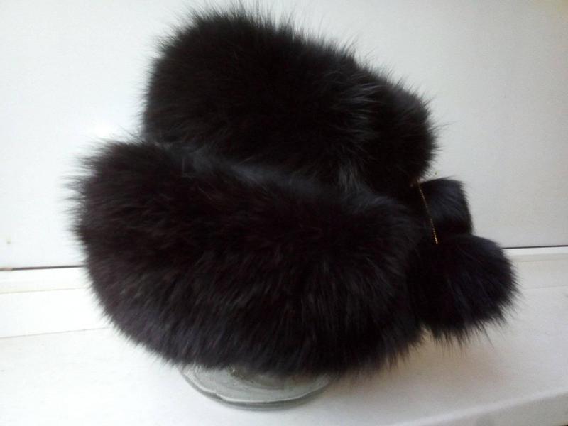 Меховая песцовая шапка-кубанка - Фото 2