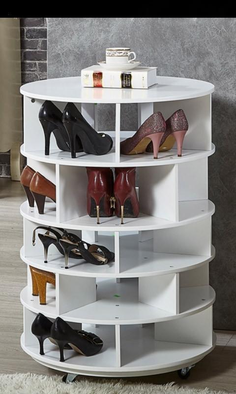 Стелаж для взуття Поворотный - вращающийся шкаф для обуви - Фото 5