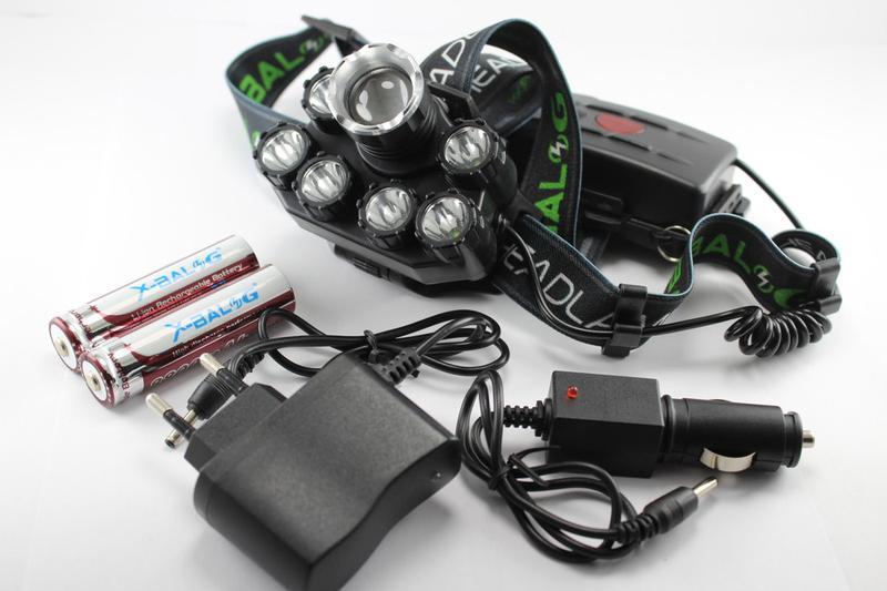 Налобный фонарик Bailong BL-T73-T6+UV