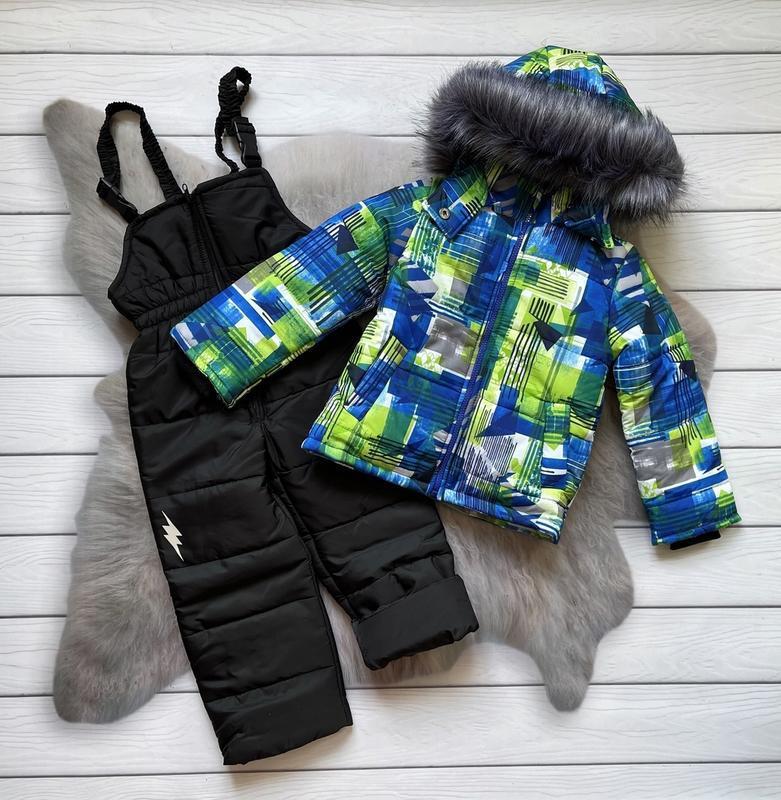Зимний костюм комбинезон, куртка и полукомбинезон