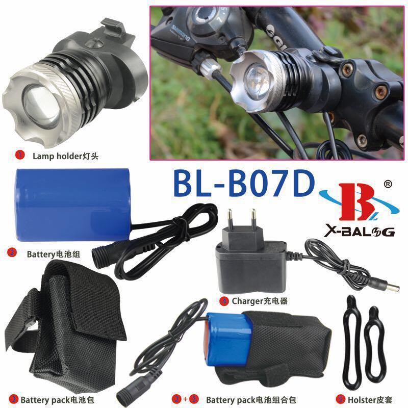 Велофонарь Bailong BL-B07D-T6