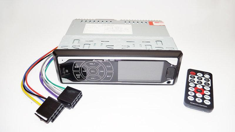 Автомагнитола Pioneer 3882 ISO - MP3 Player, FM, USB, SD, AUX ... - Фото 2