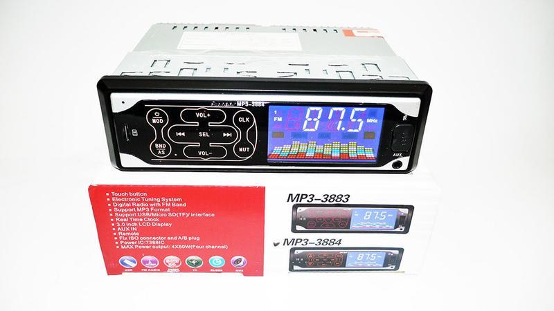 Автомагнитола Pioneer 3884 ISO MP3, FM, USB, SD, AUX сенсор - Фото 4