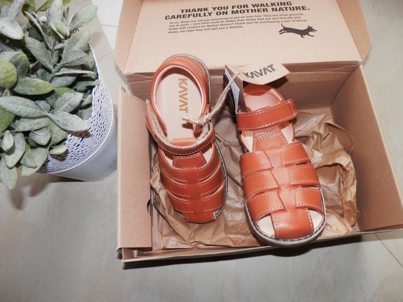 Шкіряні сандалі кavat bisgaard