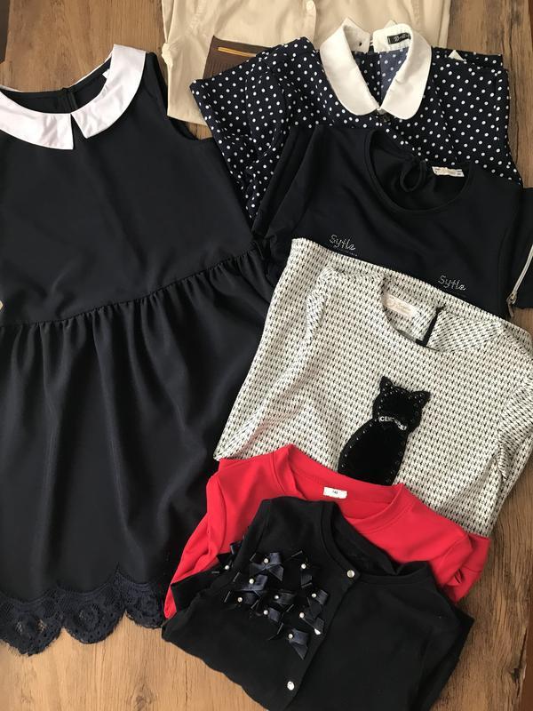 Пакет одягу для дівчинки в школу 134-146 см. пакет школьной од...