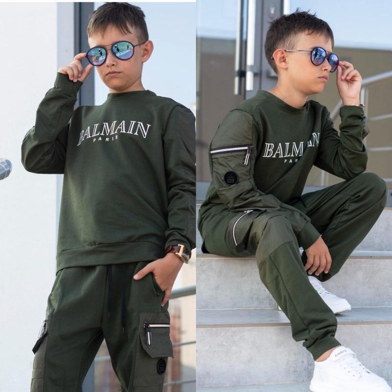 Костюм двойка брюки с карманами подросток