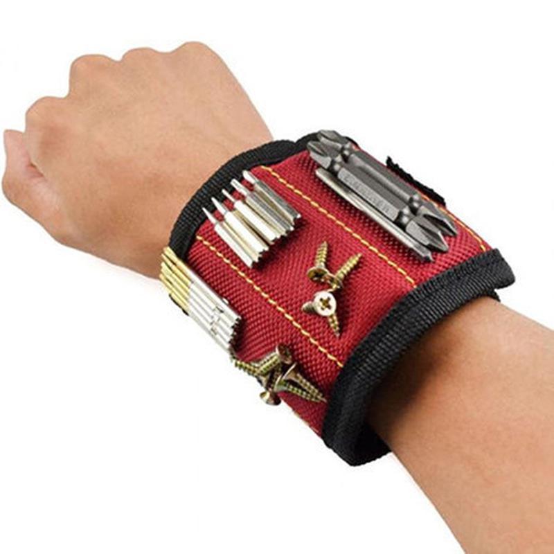 Магнитный браслет для инструментов Magnetic Tool Wristband SKL...
