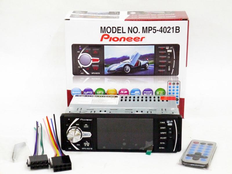 "Автомагнитола Pioneer 4021 ISO экран 4,1"", DIVX, MP3, USB, SD"