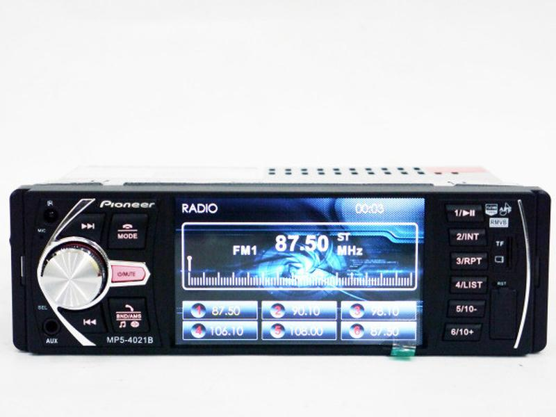 "Автомагнитола Pioneer 4021 ISO экран 4,1"", DIVX, MP3, USB, SD - Фото 3"